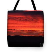 Wall Of Fire Tote Bag