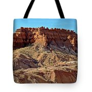 Wall Of Goblins Along  Carmel Canyon Trail In Goblin Valley State Park, Utah   Tote Bag
