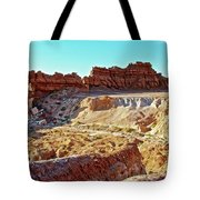 Wall Of Goblins In Carmel Canyon Trail In Goblin Valley State Park, Utah Tote Bag