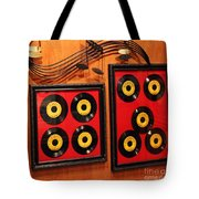 Wall Of Records Tote Bag