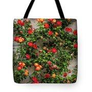 Wall Of Roses Tote Bag