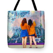 Wall Of Wishes Tote Bag