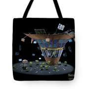Wall St Martini Tote Bag
