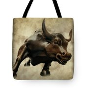 Wall Street Bull V Tote Bag