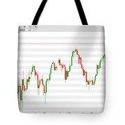 Wall Street Daily Chart 08/08/2018 Close Tote Bag