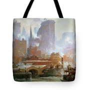 Wall Street Ferry Ship Tote Bag