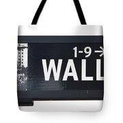 Wall Street Sign Close Up 1 Tote Bag