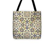 Wall Tiles Of Qasr Rodouan Tote Bag