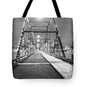 Walnut St. Bridge At Night Tote Bag