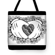 Walt Disney's Mickey Mouse Inspired Hands And Heart Tote Bag