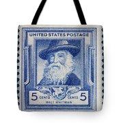 Walt Whitman Postage Stamp Tote Bag