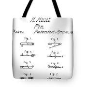 Walter Hunts Safety Pin Designs Tote Bag