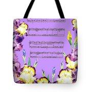 Waltz Of The Flowers Dancing Iris Tote Bag