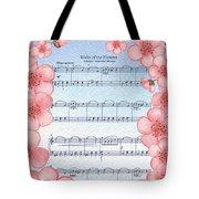 Waltz Of The Flowers Dancing Pink Tote Bag