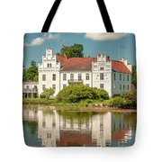 Wanas Castle And Reflection Tote Bag
