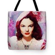 Wanda Hendrix, Vintage Movie Star Tote Bag