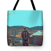 Wander For A Bit Poster Tote Bag