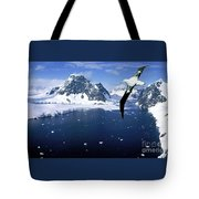 Wandering Albatross Over The Le Maire Channel Tote Bag