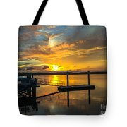 Wando River August Sunset Tote Bag