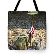 War Dogs Sacrifice Tote Bag by Carolyn Marshall
