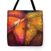 War Horse And Peace Horse Tote Bag
