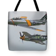 Warbirds Heritage F-86 Sabre And P-51 Mustang Tote Bag