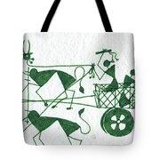 Warli Farmers In Bullock Cart Tote Bag