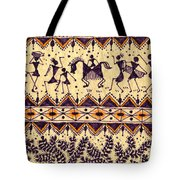 Warli Procession Tote Bag