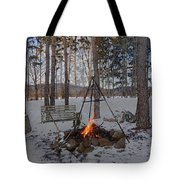 Warm Camp Fire Tote Bag