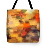 Warm Colors Under Glass - Abstract Art Tote Bag