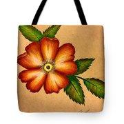 Warm Flower Tote Bag