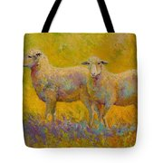 Warm Glow - Sheep Pair Tote Bag