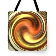 Warm Honey Swirl Tote Bag