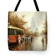 Warm Moscow Autumn Of 1953 Tote Bag