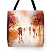 Warm Rain Tote Bag