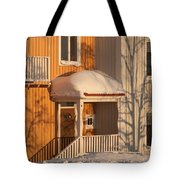 Warm Vinter Facade Tote Bag