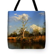 Warm Weather Clouds Tote Bag
