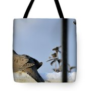Warming On The Snow Tote Bag