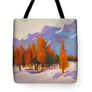 Warming The Winter Tote Bag