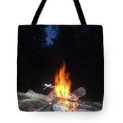 Warming Up By The Fire Tote Bag