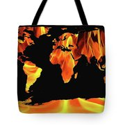 Warming World Map Tote Bag