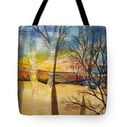Warmth Waiting Beyond The Hill Tote Bag