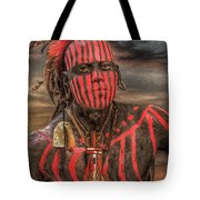 Warpath Shawnee Indian Tote Bag by Randy Steele