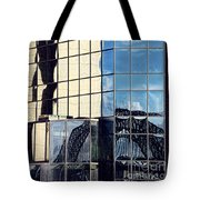 Warped Harbour Bridge Reflection By Kaye Menner Tote Bag