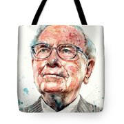 Warren Buffett Portrait Tote Bag
