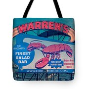 Warrens Lobster House Neon Sign Kittery Maine Tote Bag