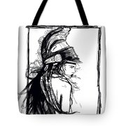 Warrior Girl 1 Tote Bag