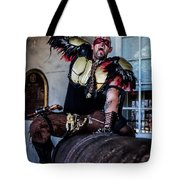Warrior On A Cannon - New Orleans Tote Bag