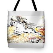 Warrior On White Horse Tote Bag