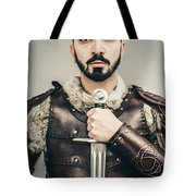 Warrior With Sword Tote Bag